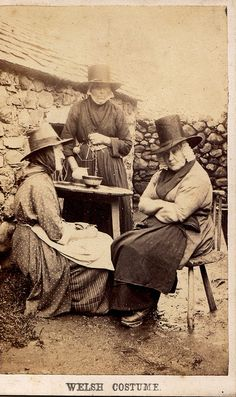 """CDV - 1860s """"Welsh Costume"""""""