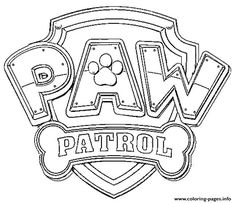 Print paw patrol logo coloring pages