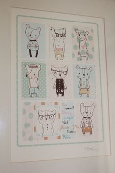 Character+Printed+Illustration+by+Nikkipea+on+Etsy,+$15.00