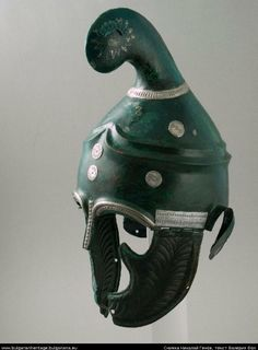 Thracian type of helmet with unique decorations made from bronze and silver. Dated to the mid IV BC. From the village of Pletena, Western Rhodope.