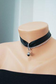 Free Ship / Choker Cat Bell Collar Cat bell jewelry by SpunkyOnArt