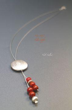 ♥ No.107 ♥ Y-Kette - 925 Silber, Koralle von Glashüpfer auf DaWanda.com
