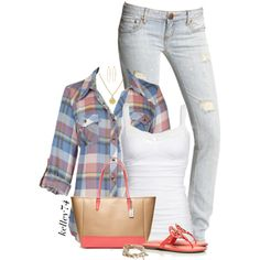 A fashion look from March 2015 featuring Free People jeans, Tory Burch sandals and Coach tote bags. Browse and shop related looks.
