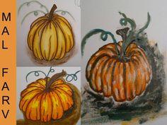 DIY: Mal Graeskar med akvarel blyant, tusser og akrylmaling