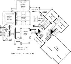 Traditional House Plan 58298 Level One - http://www.familyhomeplans.com/plan_details.cfm?PlanNumber=58298