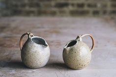 Jugs from one of our most experienced makers and a regular contributor to our studio glaze development. The contact… Ceramic Pitcher, Ceramic Mugs, Ceramic Pottery, Pottery Art, Slab Pottery, Pottery Wheel, Thrown Pottery, Ceramic Bowls, Earthenware