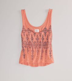 Cute vintage crop tank {ae}