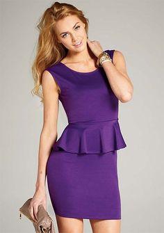 Justina Purple Peplum Dress.