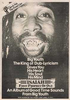 Big Youth Front Line label advert, 1978...member this from my youth.....