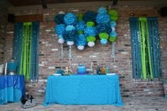 Mermaid Party - Dessert Table and Decorations