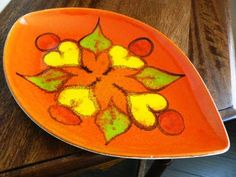 vintage Poole Pottery  POOLE DELPHIS PLATE 91 by ThriftyDiversions, $75.00