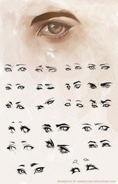 eyes ✤ || CHARACTER DESIGN REFERENCES | Find more at…