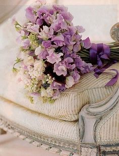 Wedding Ideas: Purple-Sweet-Pea-Bouquet