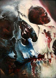 By Thomas Kynst #skull #painting