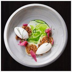 Rhubarb, Almond & Lychee Dessert