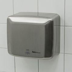 #Suszarka do rąk - obudowa: #stal #nierdzewna - zastosowanie: #toaleta #publiczna // #handdryer #publictoilet