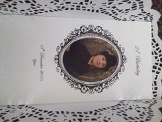 Invitations wrapped in paper doilies