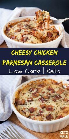 Keto Cheesy Chicken Parmesan Casserole Recipe