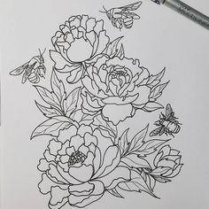 Image result for floral line art forearm tattoo