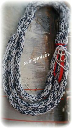 Πλεκτό κολιέ με βελονάκι  Chroset necklace Χειροποίητα κοσμήματα Necklaces, Diy, Accessories, Fashion, Build Your Own, Moda, Bricolage, Fashion Styles, Chain