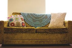 Willow crocheted doily blanket by Lisa