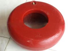 A red integrated inflatable thread protector.