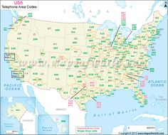 Us Area Codes Map Shows The List Of All United States Telephone Area Codes Find The List Of Area Code Cities Area Code And State Area Codes Map