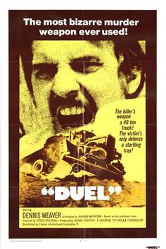 Classic Movie Posters Original | Image of Duel US One Sheet movie poster...great movie....early Spielberg!