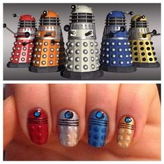 Calling all Daleks: Doctor Who | 26 Incredibly Detailed Nail Art Designs
