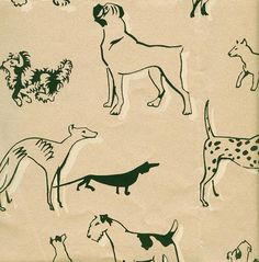 Dog Print Wallpaper dogs wallpaper - black and white illustration petandrea lauren