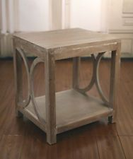 French Provincial White Wash Lamp Table Side Tables Bedside Table Brand New