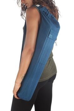 Yoga Bag - 40 USD - A sturdy and stylish yoga bag made from 100% hemp linen. Available in a variety of colors.