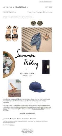 General Summer: Summer Friday, could be cute for a sale message Newsletter Layout, Email Layout, Email Newsletter Design, Email Newsletters, Web Design, Print Design, Logo Design, Email Marketing Design, E-mail Marketing