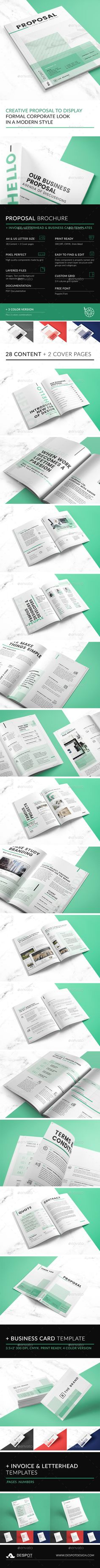 The Brand Proposal Template PSD Blue Corp
