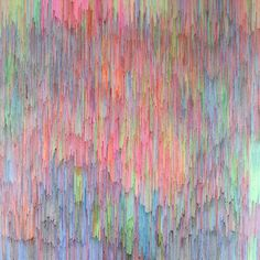 Joan Salo - Coloured ball point pen on canvas   Rainbow Expolsion