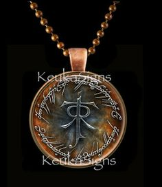 The Lord of the Rings Glass Art Photo Pendant set in by Keukasigns, $9.00