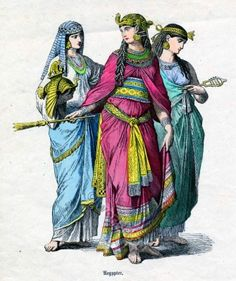 Ancient Egyptian Costumes. Wife of the Pharaoh.