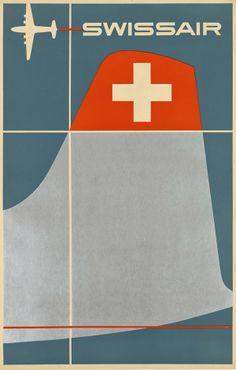 Swissair. Circa 1952. Designed by Henri Ott.