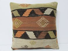 Turkish cushion 18 sofa throw pillow kilim by DECOLICKILIMPILLOWS