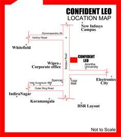 Confident Leo Location www.bangalore5.com Apartment Location