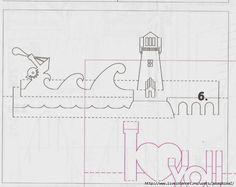 Lighthouse Киригами русска. Обсуждение на LiveInternet - Российский Сервис Онлайн-Дневников