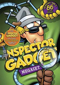 Inspector Gadget - Moved Dates, Box Cover Art for 6 DVD Titles, Including a 'Megaset'