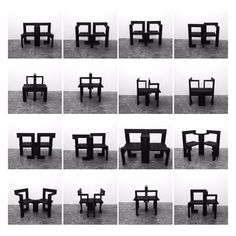 Rason Jens SUSY chairs (Rietveld/Baas Remix) wood, fire, linseed oil