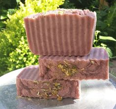 Beautiful Hot Process Soap with Rose Clay and finely ground chamomile leaves.  https://www.etsy.com/listing/203914378/rose-clay-chamomile-soap-sensitive-skin