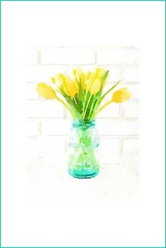 DIY Spring Tulip Watercolor Printables | Use for DIY Wall Art. Free and easy! | onsuttonplace.com