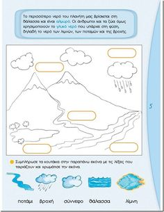 Borders Free, Water Cycle, School Staff, Projects For Kids, Biology, Worksheets, Bullet Journal, Science, Education