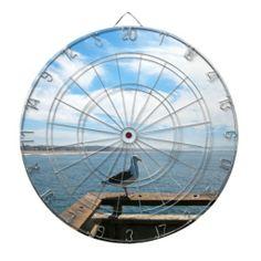 Scenic Seagull Dart Boards #birds #seagull #games #scenic #darts #boards #zazzle
