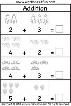 addition worksheet. This site has great free worksheets for everything from ABC's to Math.