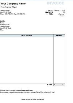 Simple Invoice Template Word Office Back Simple Invoice Form - Templates for invoices free excel