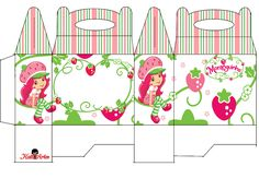 Strawberry Shortcake Free Printable Lunch Box.